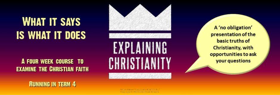 Explaining Christianity